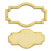 Frame and Panel 14 - Wooden 3mm MDF Laser Cut Craft Blank Scrapbook Topper